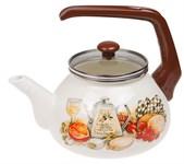 Чайник стальной эмалированный, 2.2 л, серия Традиция