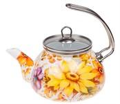Чайник стальной эмалированный, 2.2 л, серия Цветочный хоровод