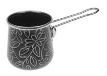 Турка для кофе стальная эмалированная, 0.37 л, серия Черный шелк
