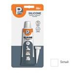 """Герметик силиконовый P PLUS """"Silicone"""" (белый) 50 мл в блистере (P Plus)"""
