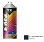 Эмаль аэрозольная универсальная INRAL UNIVERSAL ENAMEL 05 (черный матовый) 400 мл (9011)
