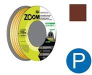 """Уплотнитель """"P"""" коричневый 9х5,5 мм, 100 метров, ZOOM CLASSIC"""