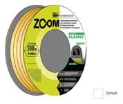 """Уплотнитель """"D"""" белый 9x7,5 мм, 100 метров, ZOOM CLASSIC"""