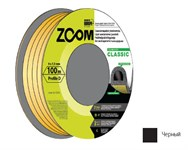 """Уплотнитель """"D"""" черный 9х7,5 мм, 100 метров, ZOOM CLASSIC"""