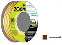 """Уплотнитель """"E"""" коричневый, 9х4 мм, 150 метров, ZOOM"""
