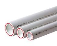 Труба полипропиленовая 32х4,4 мм PP-FIBER (PN20), армированная стекловолокном, белая (1шт./2 м.п.) VALTEC