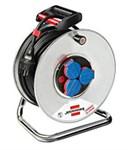 Удлинитель на катушке 50м (3 роз., 3.3кВт, метал. катушка, резин. кабель) Brennenstuhl Garant (3,3кВт; 3х1,5мм2; степень защиты: IP44)