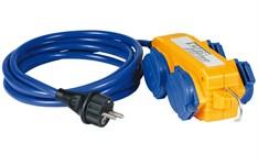 Удлинитель 5м (4 роз., 3.5кВт, кабель до -35С) Brennenstuhl (3,5кВт; 3х1,5мм2; степень защиты: IP44)