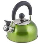 Чайник со свистком, нержавеющая сталь, 1,2 л, серия Holiday, зеленый металлик, PERFECTO LINEA