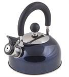 Чайник со свистком, нержавеющая сталь, 1,2 л, серия Holiday, синий металлик, PERFECTO LINEA