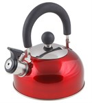 Чайник со свистком, нержавеющая сталь, 1,2 л, серия Holiday, красный металлик, PERFECTO LINEA