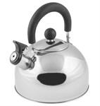 Чайник со свистком, нержавеющая сталь, 2,15 л, серия Holiday, серебристый металлик, PERFECTO LINEA