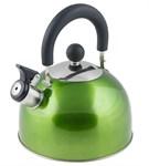 Чайник со свистком, нержавеющая сталь, 2,15 л, серия Holiday, зеленый металлик, PERFECTO LINEA