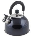 Чайник со свистком, нержавеющая сталь 2,15 л, серия Holiday, синий металлик, PERFECTO LINEA