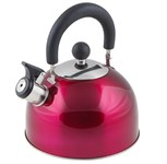 Чайник со свистком, нержавеющая сталь, 2,15 л, серия Holiday, вишневый металлик, PERFECTO LINEA