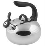 Чайник со свистком, нержавеющая сталь, 2,7 л, серия Focus, серебристый металлик, PERFECTO LINEA