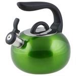 Чайник со свистком, нержавеющая сталь, 2,7 л, серия Focus, зеленый металлик, PERFECTO LINEA