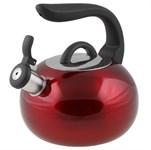 Чайник со свистком, нержавеющая сталь, 2,7 л, серия Focus, красный металлик, PERFECTO LINEA