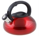 Чайник со свистком, нержавеющая сталь, 2,9 л, серия Ufo, красный металлик, PERFECTO LINEA