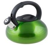 Чайник со свистком, нержавеющая сталь, 2,9 л, серия Ufo, зеленый металлик, PERFECTO LINEA