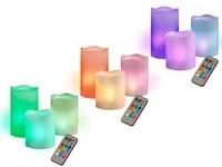 Свечи светодиодная CL3-RGB-SET3 (компл. 3 св.) JazzWay (из воска)