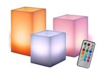 Свечи светодиодная CL3-RGB-SET3S (компл. 3 св.) JazzWay (из воска)