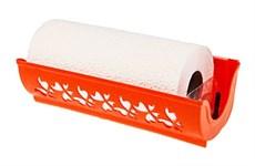 Держатель для бумажных полотенец Fly, пластмассовый, 273х87х124 мм, мандарин