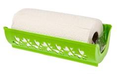 Держатель для бумажных полотенец Fly, пластмассовый, 273х87х124 мм, салатовый