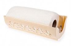 Держатель для бумажных полотенец Fly, пластмассовый, 273х87х124 мм, слоновая кость