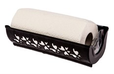 Держатель для бумажных полотенец Fly, пластмассовый, 273х87х124 мм, черный