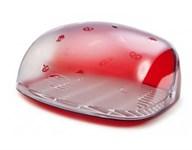 Хлебница Berossi, 300х363х170 мм, красный полупрозрачный