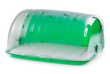 Хлебница Santi, 273х345х164 мм, зеленый полупрозрачный