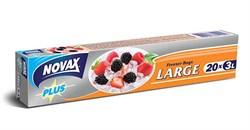 Пакеты для заморозки 3 л 20 шт  (коробка, размер 25 х 30 см, толщина 18 мкм) NOVAX