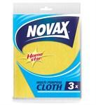 Салфетки универсальные 3 шт NV (вискоза/полиэстер, желтый, размер 30 x 36см) NOVAX
