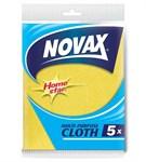 Салфетки универсальные 5 шт NV (вискоза/полиэстер, желтый, размер 30 x 36см) NOVAX