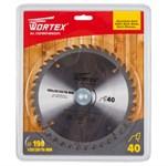 Диск пильный 190х30/20/16 мм 40 зуб. по дереву WORTEX (твердоспл. зуб)
