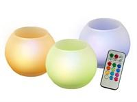 Свечи светодиодные TG-RGB-SET3/GL (компл. 3 св.) JazzWay (колбы из стекла)