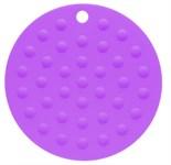 Коврик под горячее силиконовый, фиолетовый, круглый, 175х2 мм