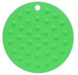 Коврик под горячее силиконовый, травянисто-зеленый, круглый, 175х2 мм
