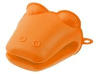 Прихватка силиконовая 9х10,5 см оранжевая PERFECTO LINEA