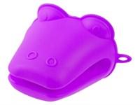 Прихватка силиконовая 9х10,5 см фиолетовая PERFECTO LINEA