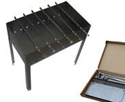 "Мангал ""Бастион"" с шампурами (500x300x500мм, толщ. 0.8мм) в коробке"