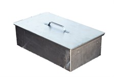 Коптильня 1-ярусная с поддоном (380х280х140 мм, сталь 0,5мм)