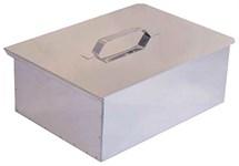 Коптильня 2-ярусная с поддоном (380х280х170мм, нерж. сталь 0,8 мм)