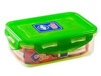 Контейнер пластиковый прямоугольный 0,5 л прозрачное дно/цветная крышка, Good&Good