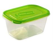 Контейнер пластиковый прямоугольный для пищевых продуктов, 1,1 л, серия One Touch, Good&Good