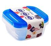 Набор контейнеров пластиковых квадратных для пищевых продуктов, 2 шт., 450 мл, серия One Touch, Good&Good