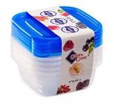 Набор контейнеров пластиковых квадратных для пищевых продуктов, 5 шт., 450 мл, серия One Touch, Good&Good