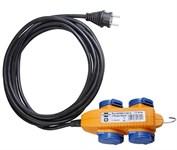 Удлинитель 10м (4 роз., 3,5кВт; 3х1,5мм2; степень защиты: IP44, резин. кабель) Brennenstuhl