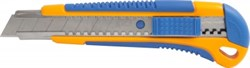 Нож c сегмент.лезв.18мм, корпус 2K, мет.напр., 3 лезв. LIDER